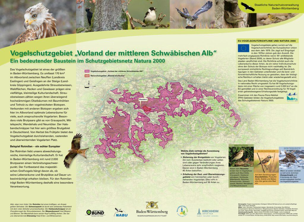 Infotafel Vogelschutz